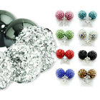 BUY 1 PAIR GET 1 FREE OF EARRINGS SHAMBALLA CZECH CRYSTAL BALL BRACELET STUD