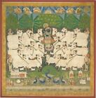 Festival Cattle Gopashtami Shrine Hanging Pichhavai Rajasthan India 19th Century