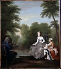 Fishing Party Hogarth William  Repro Art Photo/Poster Print Satin/Canvas/Matt