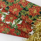 Fat quarters christmas victorian poinsetta red cream or green 100% cotton fabric