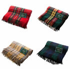 HIGHLAND - EDINBURGH 100% Wool Tartan Blankets, Many Patterns Great Quality!