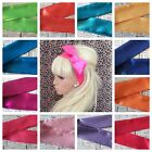 ♥SATIN BENDY WIRED WIRE HAIR WRAP SCARF HEAD BAND 50'S 40'S VINTAGE STYLE BRIGHT