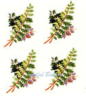 "Ceramic Decals Fern Floral Bunch  1 1/4"" x 3/4"" image"