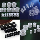 Double 3-14mm Gauges Acrylic Hollow Tunnels Ear Expander Stretcher Plugs Earlets