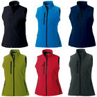 New RUSSELL Ladies Soft Shell Gilet in 6 colours XS - XXL