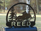 Snowmobile MAILBOX TOPPER Address Plaque Personalized Sportsman Sled Cabin Metal