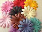 25 DIECUT MULBERRY PAPER FLOWER HEAD CHOICE OF COLOUR CARD MAKING EMBELLISHMENTS