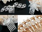 New Wedding Bridal Party Crystal Hair Comb Tiara Womens Ladies Jewellery