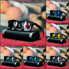 NEW MENS RETRO SUNGLASSES BLACK SILVER MIRROR LENS PARTY TRENDY GEEK SHADES