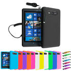 SILICONE SKIN CASE COVER - IN CAR PHONE CHARGER FOR NOKIA LUMIA 820