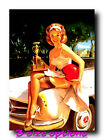 MERCEDES PIN UP PRINT in 3 sizes repro RETRO  pin-up vintage glamour # 031
