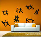 Large Set of 7 Ballroom Dancing Dancer Removable Wall Sticker Vinyl Decal Art