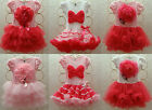 Girls Kids Baby Pettiskirt Tutu Skirt 2-8Y Party Dress Top Flowers Cute Clothing