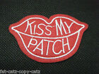 FASHION EMBROIDERY CLOTH KISS MY PATCH RED LIPS IRON SEW ON JEANS CLOTHES UKSELL