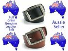 Brand New HQ Mens Genuine Full Grain Leather Classic Jeans Belt - Aus Seller