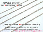 1 Metre Diamante/Crystal Chain Silver A++ Quality Wedding Sewing UK