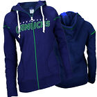 Reebok NHL Hockey Women's Vancouver Canucks Zip Up Hoodie Sweatshirt