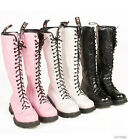 NEW Ladies Womens Faux Leather Lace Up Riding Knee High Boots Shoes AU Size Y005