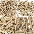 Lot of 100 Light Brown Tan Natural Bamboo Tube Beads With Dark Brown Burned Ends
