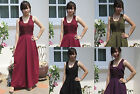 Vintage Bohemian Style Cotton Embroidered Long Maxi  Halter Dress Beach Summer