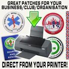 PATCHES FOR YOUR CLUB / TEAM?  Get Them From Your OWN Printer, And Save Money!!!