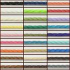 50 Mtrs 0.7mm Twist Waxed Cord / Craft Jewellery Making - Various Colour