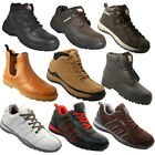 NEW MENS SAFETY TRAINERS SHOES BOOTS WORK STEEL TOE CAP ANKLE SIZE 6-13UK LADIES