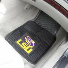 LSU Tigers NCAA Vinyl Carpet Rubber Car Truck Auto SUV Floor Cargo Mats