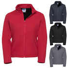 New RUSSELL Womens Ladies Casual Smart Softshell Fleece Jacket 4 Colours 8-20
