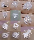 Wholesale Price HOT latest fashion gift jewelry 925silver crystal charm Ring