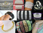 New Lot Fashion 1-12Rows More Colors Stretchy Crystal Rhinestone Bracelets