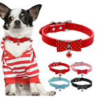 Soft Bowknot Dog Collar With Bell Pet Cat Collars Polka Dot for Chihuahua Yorkie