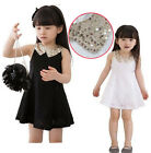 Baby Girl Kids Lace Dress 2-7Y Black White Elegant Princess Bowknot Cool Clothes