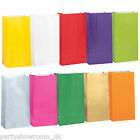 12 Plain Solid Colour Paper Party Loot Treat Bags All Colours One Listing PS