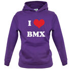 I Love BMX Kids / Childrens Hoodie - 7 Colours - Present - Gift - Equipment