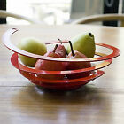 "Unusual Spiral Fruit Bowl Poing By OTOTO Decorative 11""/280mm Metal Centerpiece"