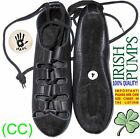 BRAND NEW! IRISH DANCE SHOES DANCING LEATHER COMFORT reel pumps jig ghillie (CC)