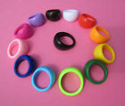 Emo Retro Kitsch Dome Acrylic Plastic Ring - 3 Sizes - 13 Colours! Brand New