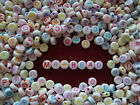 Lovely Round White Alphabet Beads with Mixed Colour Letters A to Z