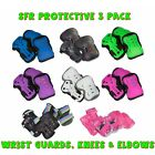 SFR Essentials Protective 3 Pack - Knee's Elbow and Wrist Guards