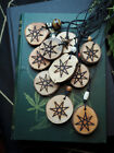 Wooden Fairy Star Pendant with Cord - Pagan, Wiccan, Witchcraft, Elven Star