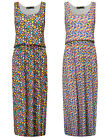 Womens Waisted Maxi Dress Geometric Print Black White Ladies New Sz 8-14