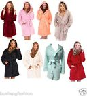 ladies hooded bath robe dressing gown housecoat women coat womens girl lady S-XL