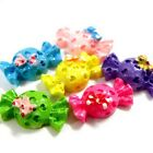 15/50/100pcs Assorted Candy Color Fancy Resin Flatback Bow Clip Scrapbooks B0450