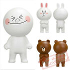 """JAPAN TOMY A.R.T.S. LINE APP CHARACTERS  5"""" (13cm) PVC FIGURE -MOON/CONY/BROWN"""
