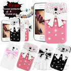 3D CRYSTAL BLING DIAMOND BOW HARD CASE COVER FOR SAMSUNG BLACKBERRY VARIOUS