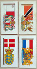 Brooke Bond-Flags and Emblems of the World-4 Cards-LAMINATED-Individual-1968