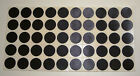 "1/2"" Round Black Color Coded Inventory Dot Stickers  CHOOSE 96,288,672,1270,2540"
