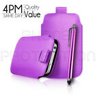 Premium PU Leather Pull Tab Pouch Case Cover & Stylus For Various Nokia Mobiles