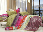 BINFEN Sheet Set Double/Queen/King Size Bed Flat&Fitted&Pillowcases New Cotton